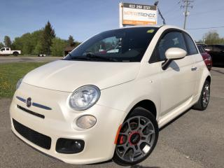 Used 2012 Fiat 500 6-Speed with Bluetooth, Pwr Windows, Air, Keyless Entry, Sport Alloys and Fog Lights ! for sale in Kemptville, ON