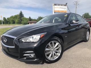 Used 2014 Infiniti Q50 Premium AWD! Loaded with NAV, Leather, Sunroof, BackupCam, Bluetooth, AUTOSTART, Heated Seats and more! for sale in Kemptville, ON
