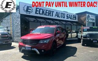 Used 2016 Dodge Journey CROSSROAD WITH LEATHER / NAV / SUNROOF for sale in Barrie, ON