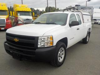 Used 2013 Chevrolet Silverado 1500 Work Truck Ext. Cab Short Box 2WD Canopy for sale in Burnaby, BC