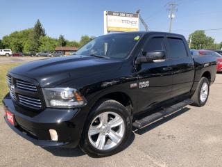 Used 2013 RAM 1500 Crew Sport Loaded with NAV, Heated Steering and Seats, AUTOSTART, BackupCam and much more ! for sale in Kemptville, ON