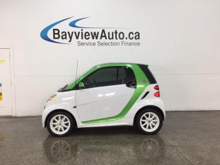 Used 2014 Smart fortwo electric drive - ELECTRIC! ALLOYS! HTD SEATS! NAV! BLUETOOTH! for sale in Belleville, ON