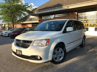Used 2013 Dodge Grand Caravan Crew DVD NAVI LEATHER NEW TIRES (STO N GO) CERT. for sale in Concord, ON