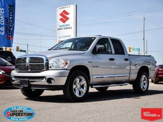 Used 2008 Dodge Ram 1500 SLT Quad 4x4 ~Heated Leather ~Power Moonroof for sale in Barrie, ON
