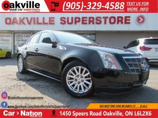 Used 2010 Cadillac CTS 3.0L | LEATHER HTD SEATS | BLUETOOTH | LOW KM for sale in Oakville, ON