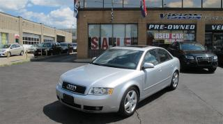 Used 2004 Audi A4 1.8T (EOP Nov/03) (M6)/AS IS/SUNROOF/QUATTRO for sale in North York, ON