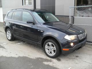 Used 2008 BMW X3 4x4 3.0i Pano + Cuir + GARANTIE 3 ans IN for sale in Laval, QC