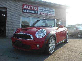 Used 2010 MINI Cooper CONVERTIBLE S DÉCAPOTABLE for sale in Saint-hubert, QC