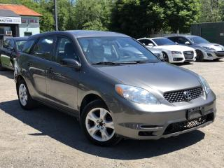 Used 2004 Toyota Matrix LOW KMS GAS SAEVR WELL-MAINTAINED SUNROOF for sale in Newmarket, ON