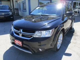 Used 2015 Dodge Journey LOADED R/T EDITION 7 PASSENGER 3.6L - V6.. AWD.. BENCH & 3RD ROW.. LEATHER.. HEATED SEATS.. TOUCH SCREEN.. BLUETOOTH.. for sale in Bradford, ON