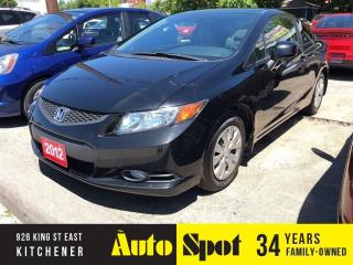 Used 2012 Honda Civic COUPE LX/LOW, LOW KMS/PRICED-QUICK SALE ! for sale in Kitchener, ON