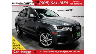 Used 2016 Audi Q3 2.0T Komfort| PANO ROOF| AWD| OPEN SUNDAYS| for sale in Burlington, ON