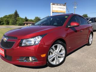 Used 2014 Chevrolet Cruze LTZ NAV with Leather, Sunroof, BackupCam, AUTOSTART, Bluetooth, Heated Seats and more! for sale in Kemptville, ON