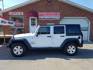 Used 2013 Jeep Wrangler Sport, Manual, Hard top, A/C, Power locks for sale in Bowmanville, ON