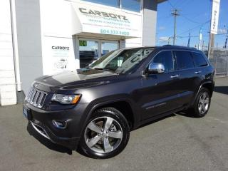 Used 2014 Jeep Grand Cherokee Overland 4WD, DIESEL, Nav, Pano Roof, Leather for sale in Langley, BC
