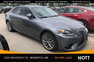 Used 2014 Lexus IS 250 AWD Nav BSM Backup Cam Heated/ for sale in Winnipeg, MB
