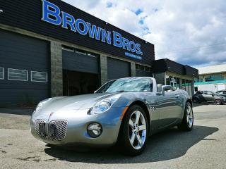 Used 2006 Pontiac Solstice LOW KM'S, LOCAL, ACCIDENT FREE, LEATHER for sale in Surrey, BC