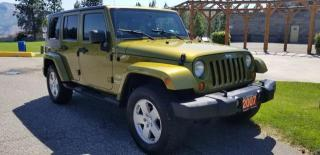 Used 2007 Jeep Wrangler Unlimited Sahara 4WD for sale in West Kelowna, BC