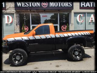 Used 2007 Chevrolet Silverado 1500 4X4*MONSTER TRUCK*NO EXPENSE SPARED*A MUST SEE!!* for sale in Toronto, ON