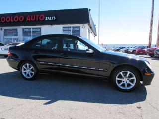 Used 2005 Mercedes-Benz C-Class C230 KOMPRESSOR SPORT AUTO LEATHER CERTIFIED 2YR WARRANTY for sale in Milton, ON