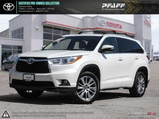 Used 2016 Toyota Highlander XLE AWD FULLY LOADED SUNROOF BLUETOOTH AND MORE for sale in Orangeville, ON