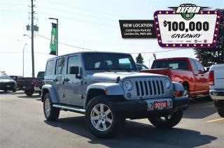 Used 2016 Jeep Wrangler Unlimited Sahara - 4x4, dual tops, GPS, bluetooth, heated se for sale in London, ON