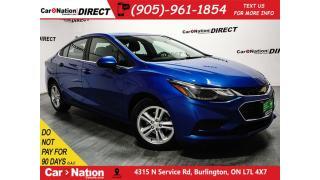 Used 2017 Chevrolet Cruze LT| SUNROOF| TOUCH SCREEN| PUSH START| for sale in Burlington, ON