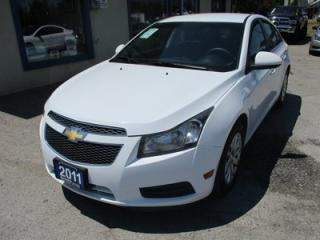 Used 2011 Chevrolet Cruze 'GREAT VALUE' POWER EQUIPPED 1-LT MODEL 5 PASSENGER 1.4L - TURBO.. CD/AUX INPUT.. KEYLESS ENTRY.. for sale in Bradford, ON