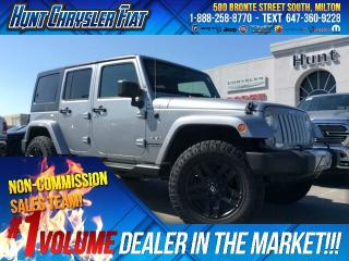 Used 2016 Jeep Wrangler Unlimited SAHARA/4X4/FUEL TIRES/NAV/DUAL TOP & MORE!!! for sale in Milton, ON