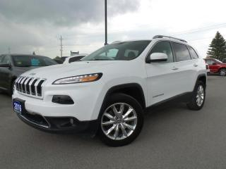 Used 2016 Jeep Cherokee LIMITED 3.6L V6 4X4 for sale in Midland, ON