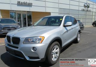 Used 2013 BMW X3 xDrive28i AWD, Leather, Heated Seats, Bluetooth for sale in Unionville, ON