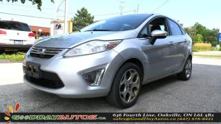 Used 2011 Ford Fiesta SEL   LEATHER   SUNROOF   ALLOYS   BT   CERTIFIED for sale in Oakville, ON