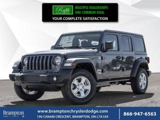 New 2018 Jeep Wrangler Unlimited Sport S for sale in Brampton, ON