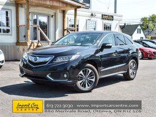 Used 2017 Acura RDX ELITE PACKAGE NAV ROOF BLIS WOW!! for sale in Ottawa, ON