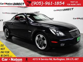 Used 2005 Lexus SC 430 Pebble Beach Edition| RED LEATHER| NAVI| for sale in Burlington, ON
