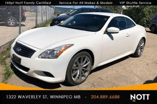 Used 2009 Infiniti G37 Convertible 6-speed Manual LOW for sale in Winnipeg, MB