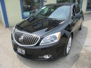 Used 2016 Buick Verano LOADED 'FUEL EFFICIENT' 5 PASSENGER 2.4L - ECO-TEC.. LEATHER.. HEATED SEATS.. NAVIGATION.. BOSE AUDIO.. BACK-UP CAMERA.. POWER SUNROOF.. for sale in Bradford, ON
