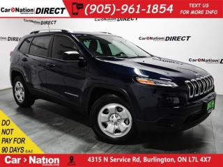 Used 2016 Jeep Cherokee Sport| 4X4| LOCAL TRADE| BACK UP CAMERA| for sale in Burlington, ON