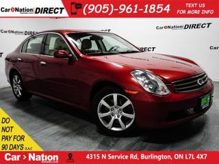 Used 2006 Infiniti G35X | AWD| LEATHER| SUNROOF| LOCAL TRADE| for sale in Burlington, ON