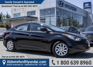 Used 2013 Hyundai Elantra GL BC OWNED & LOW KILOMTRES for sale in Abbotsford, BC