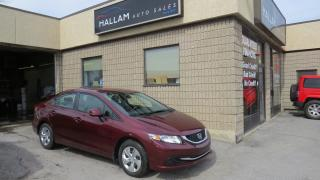 Used 2013 Honda Civic LX Bluetooth, Cruise Control, Heated Seats for sale in Kingston, ON