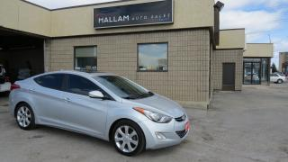 Used 2013 Hyundai Elantra Limited Black leather seats, Power Sunroof, Heated Seats, Bluetooth for sale in Kingston, ON