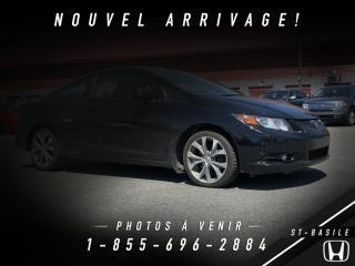Used 2012 Honda Civic Si + BAS KILO + NAVI +TOIT OUVRANT for sale in St-Basile-le-Grand, QC