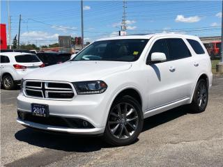 Used 2017 Dodge Durango GT**AWD**Leather**Sunroof**NAV**Bluetooth** for sale in Mississauga, ON