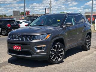 Used 2017 Jeep Compass Limited**Leather**Sunroof**NAV**Back UP CAM** for sale in Mississauga, ON