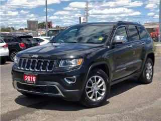 Used 2016 Jeep Grand Cherokee Limited**Leather**Sunroof**Bluetooth** for sale in Mississauga, ON