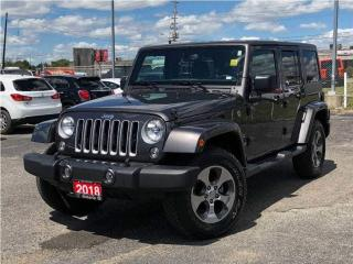 Used 2018 Jeep Wrangler Unlimited Sahara**6.5 Inch Touchscreen**NAV** for sale in Mississauga, ON