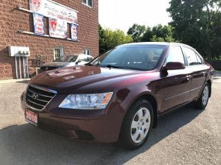 Used 2010 Hyundai Sonata GL/ONE OWNER/NO ACCIDENT/CERTIFIED/WARRANTY INCL for sale in Cambridge, ON