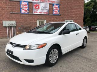 Used 2008 Honda Civic DX/CERTIFIED/WARRANTY INCLUDED for sale in Cambridge, ON