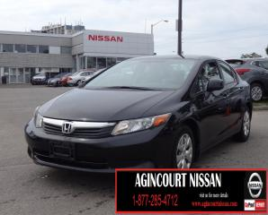 Used 2012 Honda Civic LX BLUETOOTH|CRUISE CONTROL|AUXILIARY for sale in Scarborough, ON